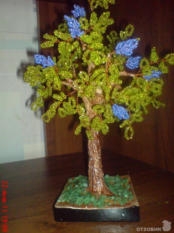 Дерево из бисера - Отличные подарки.