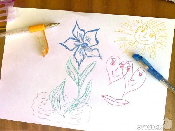 Рисунок блестящей ручкой