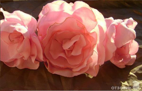 розы из ткани своими руками.  Мастер-класс - цветы из ткани.