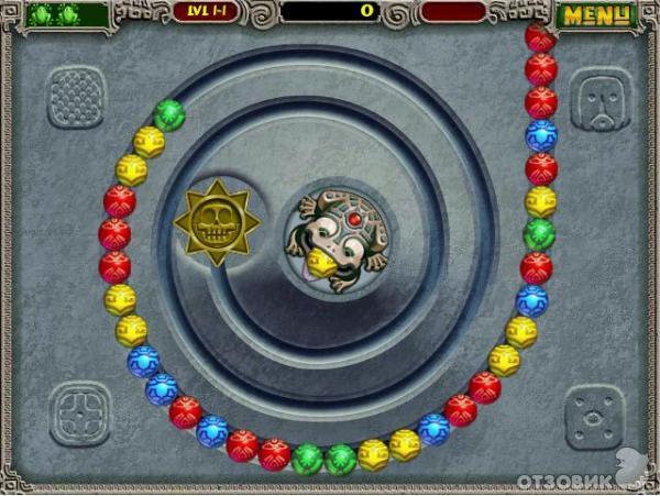Игра Зума играть онлайн в Zuma бесплатно - яркие