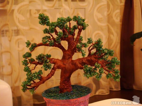 Дерево из бисера - Подарок с душой.
