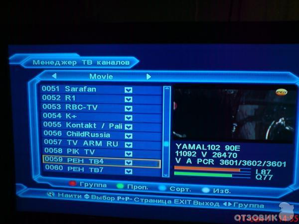 ТВ каналов Eurosky ES-4050