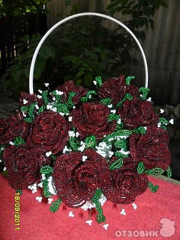 Бисер своим руками для цветы