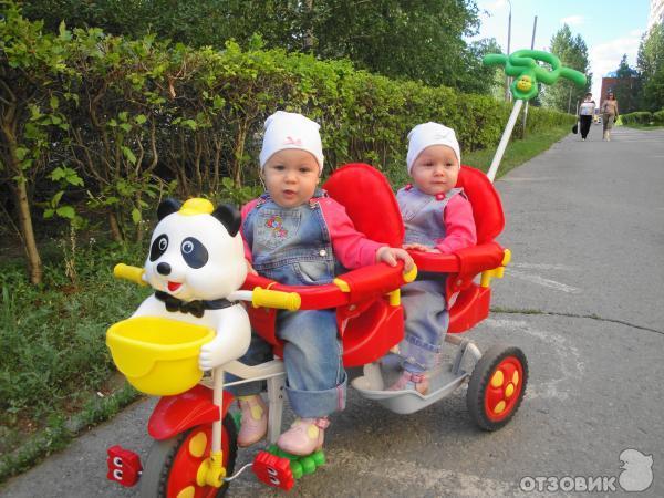 Отзыв о Велосипед для двойни lider kids | Альтернатива коляске для ID93