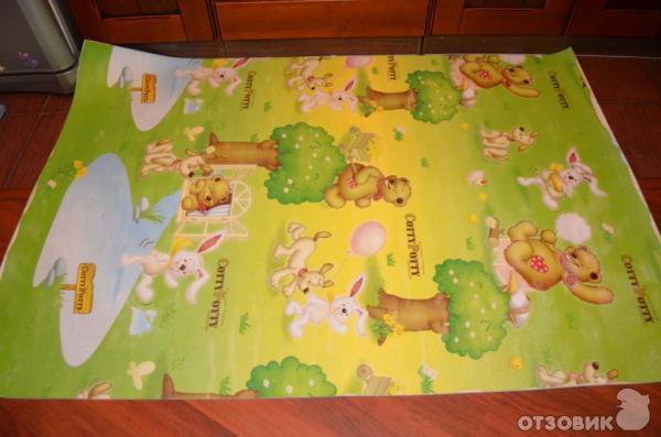 Детский развивающий коврик для игр складывающийся с дугами