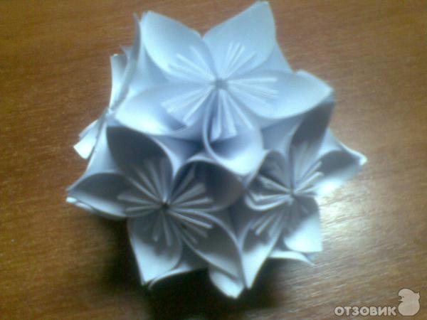 Кусудама (цветочный шар) из
