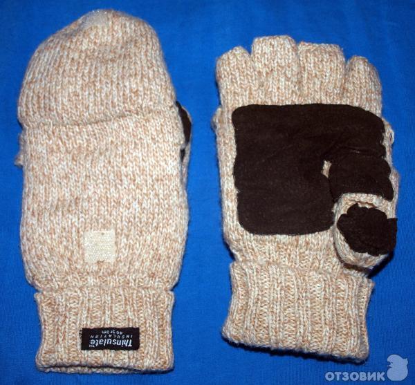 Перчатки варежки с откидным верхом мужские