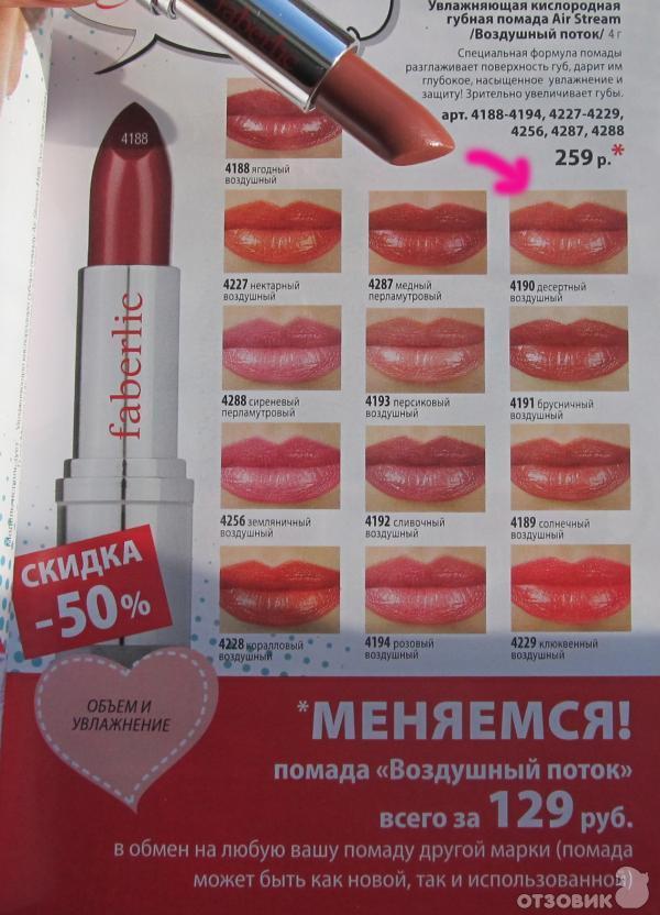 Отзыв о губная помада faberlic \
