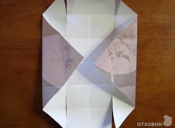 Как сделать коробочку без ножниц 535