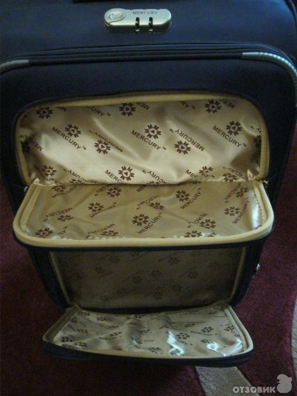 В самом чемодане есть удобные стропы и можно закрепить вещи, чтобы они...