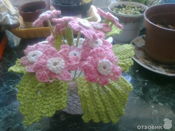 Вязание крючком - вазочка с