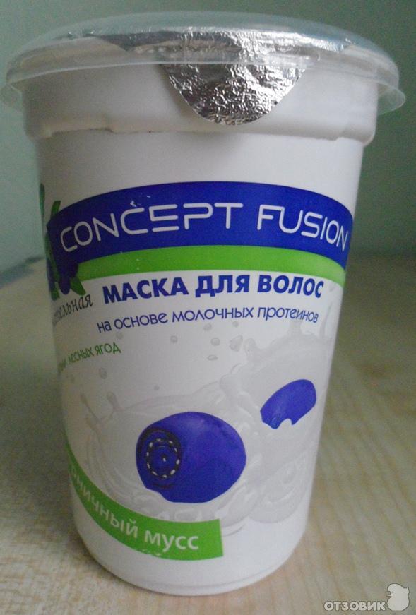 Concept маска для волос черничный мусс