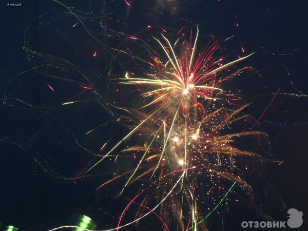 Фото сделанное Цифровой фотоаппарат Canon Power Shot SX150 IS, фейерверк