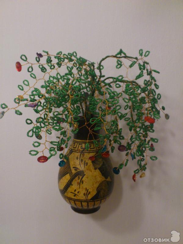 b Как сделать /b денежное дерево из бисера?