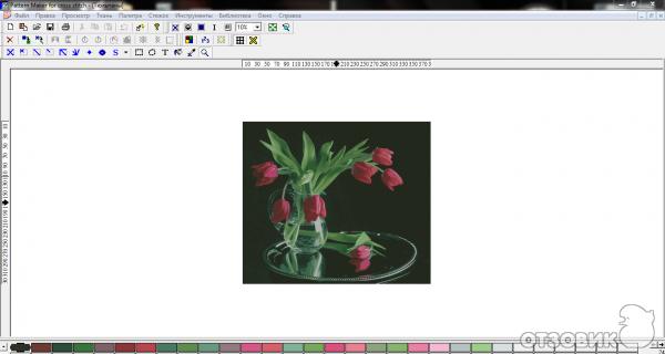 Программа для создания схем для вышивания крестом Pattern Marker for cross stich фото.