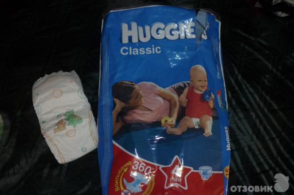 Отзыв о Детские подгузники Huggies Classic | Детские подгузники