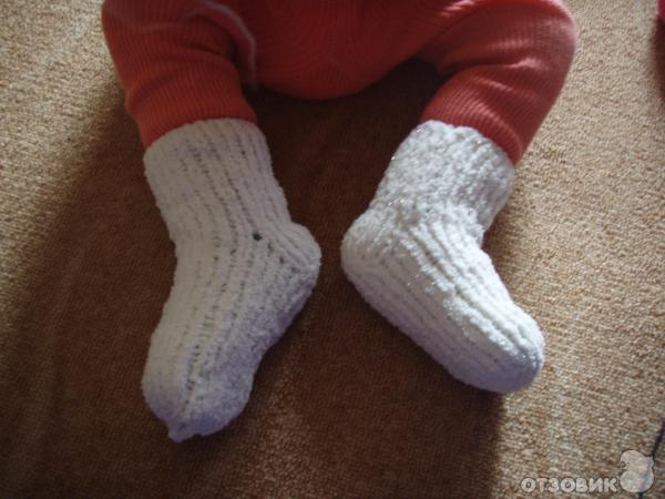 Вязание спицами для детей от 1 до 3 лет для девочек носочки 35