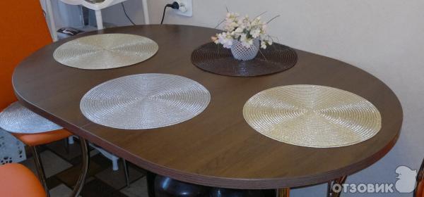 Круглые салфетки под тарелки