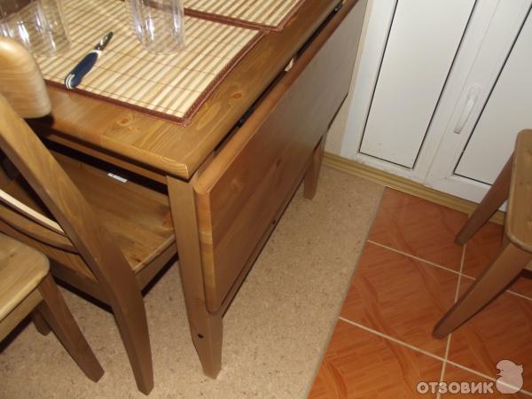 Отзыв о обеденный стол ikea leksvik хороший стол для маленьк.