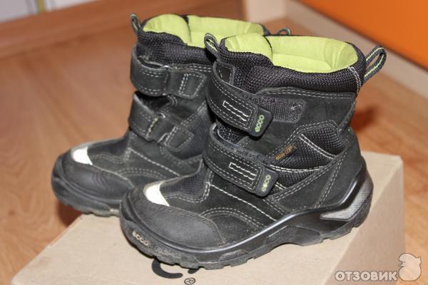 Отзыв: Ботинки детские Ecco Gore-Tex Snowride зимние - Обувь для активных малышей - всегда сухо и тепло