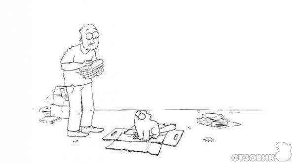 Мультик кот и хозяин