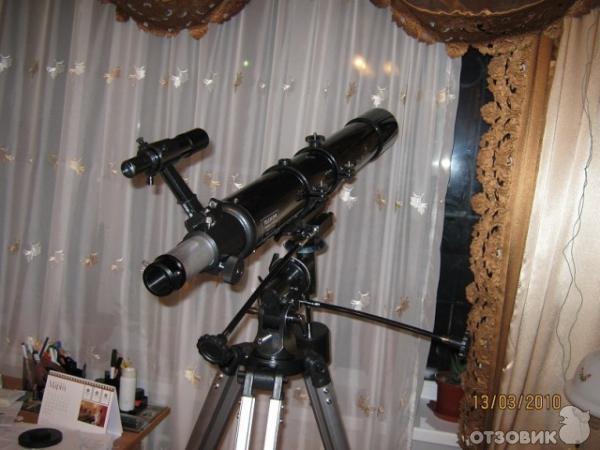 домашний телескоп и фото сделанные с него обеих ситуациях коже
