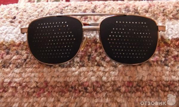 Перфорационные очки с дырочками для тренировки зрения (дизайн как.